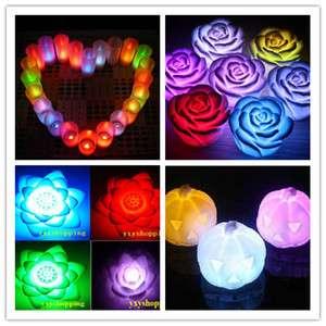 Change flameless night light lamp flower Candle ornamental
