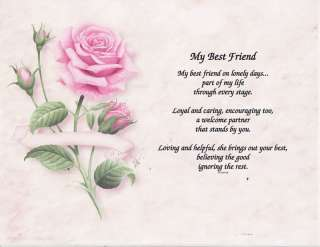 MY BEST FRIEND POEM PERSONALIZED NAME PRINT PRAYER