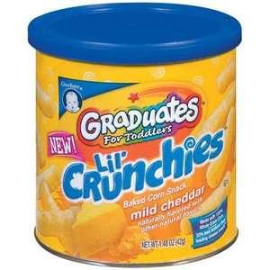 Gerber Graduates Lil Crunchies Mild Cheddar Baked Corn