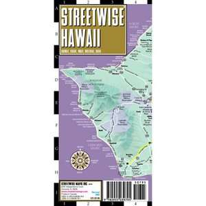 Streetwise Hawaii Map   Laminated State Road Map of Hawaii Folding