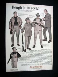 Browning Sportsman Hunting Apparel 1971 print Ad