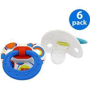 NUK/ Gerber   Orthodontic Pacifiers 6 Pack, Blue Dots (size 1 and 2)