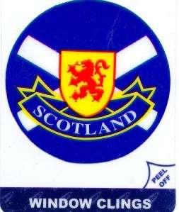 Scotland Scottish Window Cling Car Sticker 4 x 3