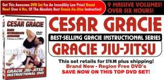 Cesar Gracie Jiu Jitsu Grappling 9 Volume DVD set new