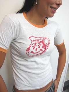 Authentic 70s Vtg cotton KOOL AID Ringer T SHIRT Rhinestone Fred Segal