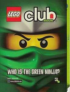 LEGO Club Magazine January to February 2012 issue   NINJAGO GREEN
