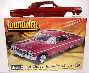 1964 64 Chevrolet Chevy Impala Model Kit Burgundy Painted LOWRIDER