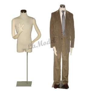 Male Body Dress Form, Mannequins Body Dress Form with two flexible