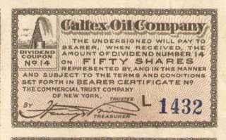 1919 Caltex Oil Company > Nevada stock certificate