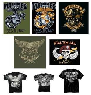 US Marine Corps Vintage Tee USMC Graphic Design T Shirt
