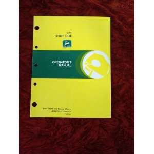 John Deere 621 Drawn Disk OEM OEM Owners Manual John Deere Books