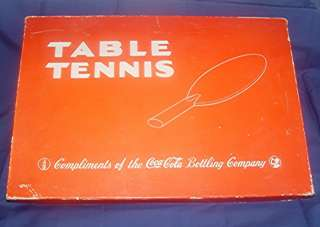 VTG COCA COLA TABLE TENNIS SET COKE MILTON BRADLEY