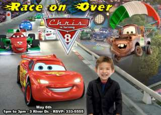 DISNEY CARS BIRTHDAY PARTY INVITATIONS & PARTY FAVORS