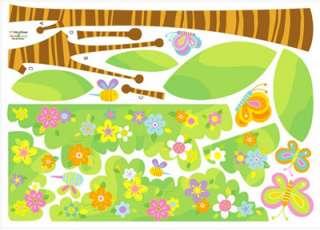 wall decor stickers peel stick removable art flower garden tree kids