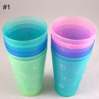 12pieces/pack 7oz Plastic Drinking Cups – 3 different designs to