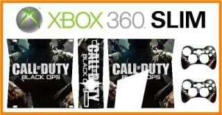 XBOX 360 SLIM   Vinyl Sticker Skin   COD   Black Ops