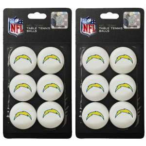 San Diego Chargers Nfl Table Tennis Balls Set (2 Packs Of