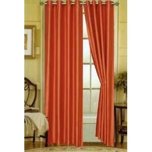 Faux Silk Essex 58 x 84 Grommet Window Panel Orange