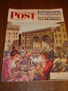 Evening Post magazine 1962 Birth Control Pills/Beanball/Sharks