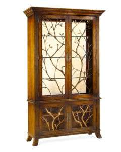 Horchow BRASS GROVE DISPLAY CABINET Curio Bookcase