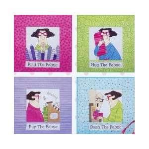 Fabric Addict quilt pattern, Amy Bradley Designs ABD241, four blocks