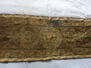 Gorgeous Antique Ottoman Hand Embroidered Table Runner