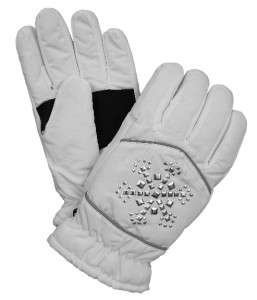 Womens Joe Boxer Winter Snow Ski Gloves Thinsulate Fleece Lined White