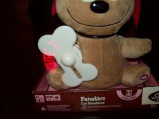 NEW VALENTINES DAY ANIMATED FANATICS PLUSH DOG BONE SPINS MESSAGES