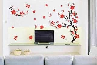 Plum Blossom Tree Mural Art Wall Stickers Vinyl Decal Home Room Decor