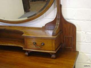 Stunning Edwardian Mahognay Bow Front Dressing Table / Vanity