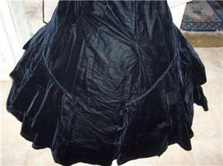 WAR/VICTORIAN BLACK VELVET GOWN~ TO DIE FOR GORGEOUS *RARE*