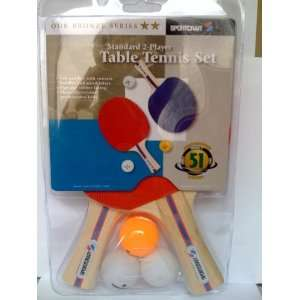 Sportcraft Classic 2 Player Table Tennis Set Sports