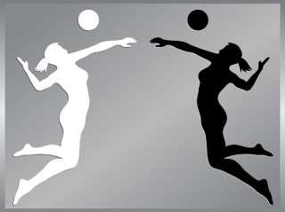 Volleyball Player #1 cut vinyl decal Bump Set Spike