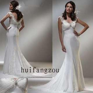 Stunning Straps New Bridal Wedding Prom Dress Gown
