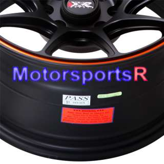 Black Orange Stripe Concave Rims Wheels Stance 84 86 91 BMW E30