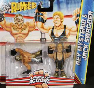 SWAGGER & REY MYSTERIO   WWE RUMBLERS TOY WRESTLING ACTION FIGURES