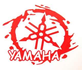 YAMAHA Red MotoGP Motorcycle Bumper Die Cut Vinyl Sticker H101
